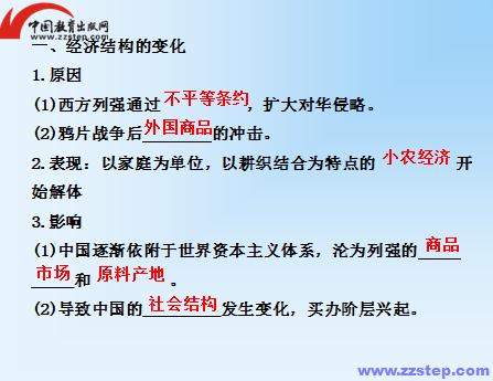 近代中国社会经济结构的变动及的